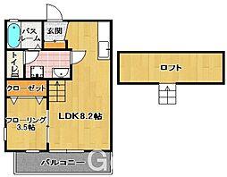 グレース 飯倉[2階]の間取り