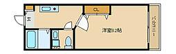 兵庫県尼崎市道意町3丁目の賃貸アパートの間取り