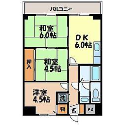 長崎県長崎市五島町の賃貸マンションの間取り