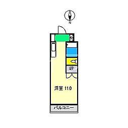 レジデンス優美18[3階]の間取り