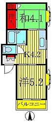 マスカットハイツ[2階]の間取り