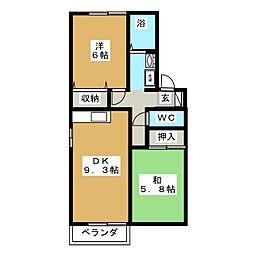 アトリオA[2階]の間取り