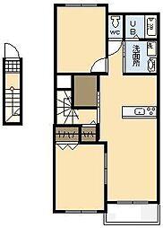 フィデールユー Ⅲ[2階]の間取り