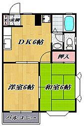 カームハイツ宮崎台[203号室号室]の間取り