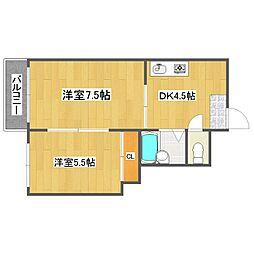 ウエストポイントIII[2階]の間取り