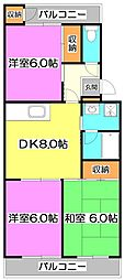 ウィステリア801[2階]の間取り