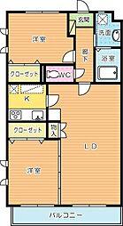 メルヴェーユ紫[302号室]の間取り