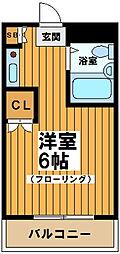 東京都世田谷区松原2丁目の賃貸マンションの間取り