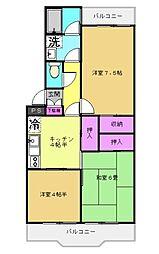 新所沢駅徒歩7分緑町4丁目マンション[306号室]の間取り