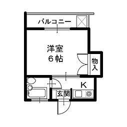 メゾンOZO[3階]の間取り