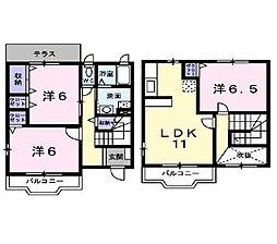 ラ・カーサ宮下 1階3LDKの間取り