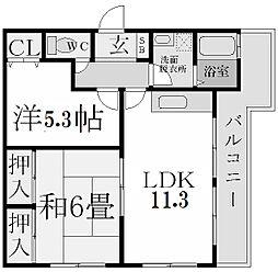 プチ・フルール[3階]の間取り