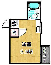 コーエイ中宮[3階]の間取り