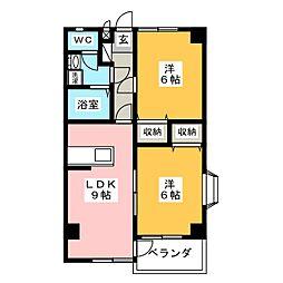 インペリアルハイツHIRO[3階]の間取り