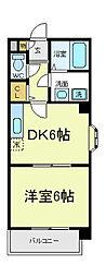メゾンケーアイ[4階]の間取り