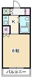 セジュール・ド・ミワ参番館[505号室]の間取り