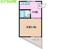 第3三恵ビル[2階]の間取り