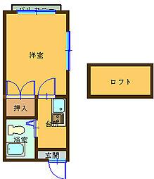 シェスタ柳谷[1階]の間取り