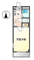 ラ・クレ[3階]の間取り
