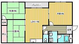 アマノビル[302号室]の間取り