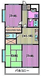 ガーデンハウス塚越[105号室]の間取り