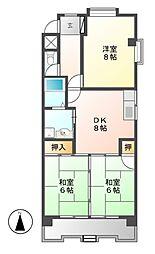第一山田ビル[1階]の間取り