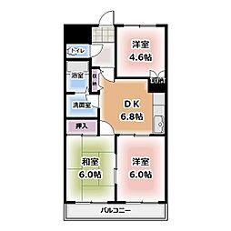 愛知県清須市西市場1丁目の賃貸アパートの間取り
