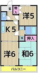 東京都足立区東保木間2丁目の賃貸マンションの間取り