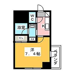 ヴィークブライト名古屋東別院 10階1Kの間取り