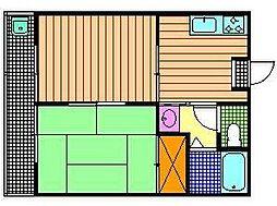 コーポ長崎(堤)[203号室]の間取り