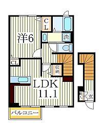 ベル ウッド[2階]の間取り