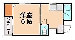 リベラルコーポ[4階]の間取り