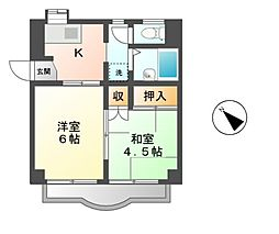 ニューコバヤシハイツ[2階]の間取り