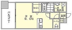 トラストレジデンス博多駅南[10階]の間取り