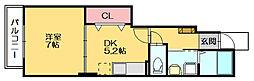 ピアッツァエミII・III[1階]の間取り