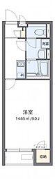 クレイノ百合桜[106号室]の間取り