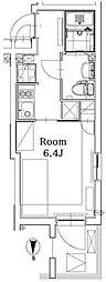 東京メトロ丸ノ内線 四谷三丁目駅 徒歩7分の賃貸マンション 3階1Kの間取り