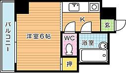 フォーレスト西折尾[4階]の間取り