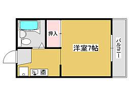 兵庫県加古川市平岡町二俣の賃貸アパートの間取り