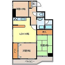シャングリラ花京院[8階]の間取り