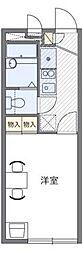 レオパレス上井沢[2階]の間取り