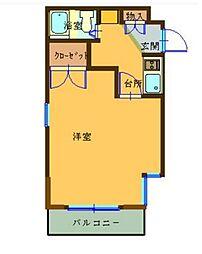 コナビック東伊場[3B号室]の間取り