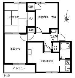 エクセル神戸[B101号室]の間取り