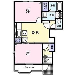 ベイサイドガーデン[1階]の間取り