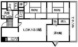 シャトークレール[2階]の間取り