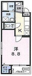 TRS,Nijyo[1階]の間取り