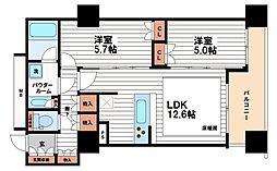 プレサンスレジェンド堺筋本町タワー[16階]の間取り