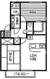 エスポワール・K[A201号室]の間取り