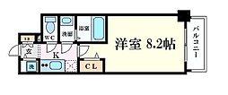 Osaka Metro御堂筋線 本町駅 徒歩3分の賃貸マンション 5階1Kの間取り