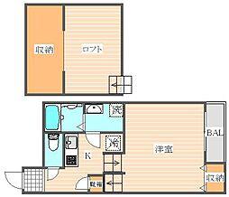 MUKAVA吉塚[2階]の間取り